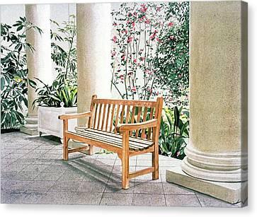 Steele Canvas Print - The Loggia At The Virginia Steele Scott Galleriy Of American by David Lloyd Glover