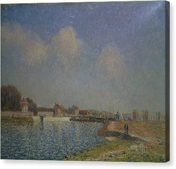 The Loing At Saint Mammes Canvas Print by Alfred Sisley