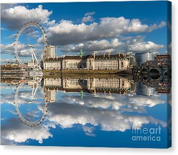 Pier Canvas Print - The London Eye by Adrian Evans