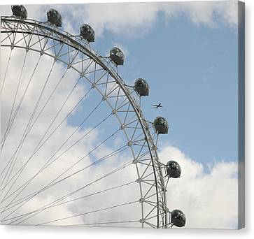Airoplane Canvas Print - The London Eye by Christopher Rowlands