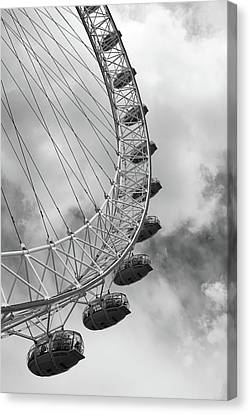 Canvas Print featuring the photograph The London Eye, London, England by Richard Goodrich