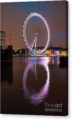 The London Eye Canvas Print by Nichola Denny