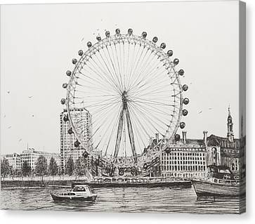 The London Eye Canvas Print by Vincent Alexander Booth