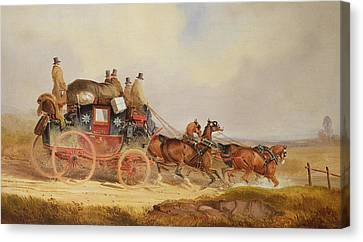 The London To Louth Royal Mail Canvas Print by Charles Cooper Henderson