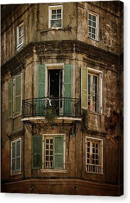 Chrystal Canvas Print - The Lone Balcony Of New Orleans by Chrystal Mimbs