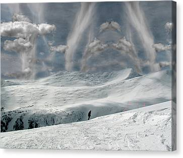 Canvas Print featuring the photograph The Lone Boarder by Wayne King