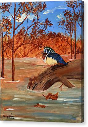 The Lone Duck Canvas Print by Swabby Soileau