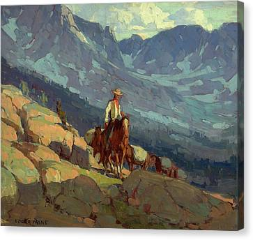 The Lone Packer Canvas Print