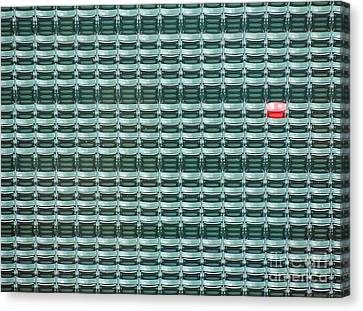 The Lone Red Seat At Fenway Park Canvas Print by Keith Ptak