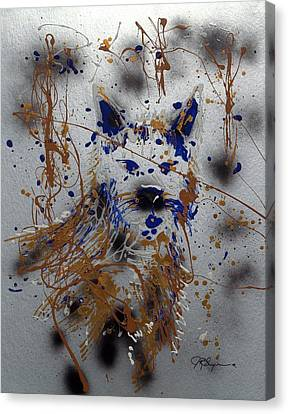 The Lone Wolf  Canis Lupus Canvas Print by J R Seymour