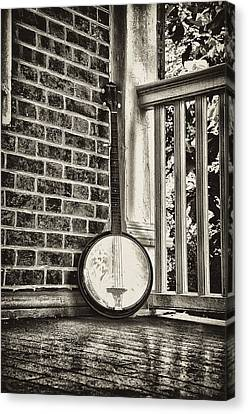 The Lonely Banjo Canvas Print by Bill Cannon