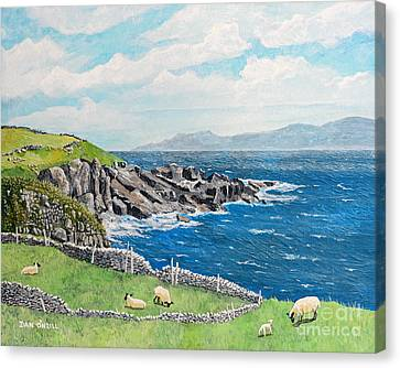 Stonewall Canvas Print - The Lonely Cliffs Of Dingle, Ireland by Dan O'Neill