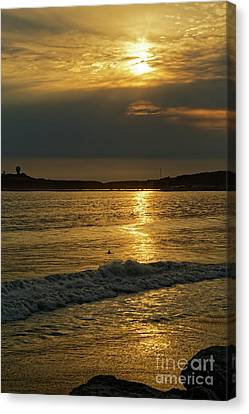 Canvas Print - The Lonely Sunset Surfer by Natural Focal Point Photography
