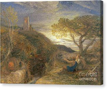 The Lonely Tower Canvas Print by Samuel Palmer