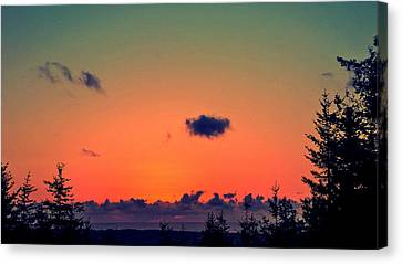 The Loner Cloud Canvas Print