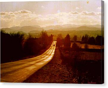 The Long And Lonely Road....... Canvas Print