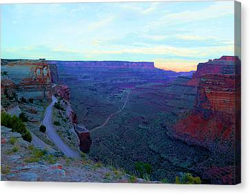 The Long Dry Road Canvas Print