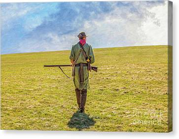 Colonial Man Canvas Print - The Long Hunt by Randy Steele