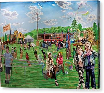 The Long Island Fair At Old Bethpage Restoration Canvas Print by Bonnie Siracusa