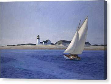 Breeze Canvas Print - The Long Leg by Edward Hopper