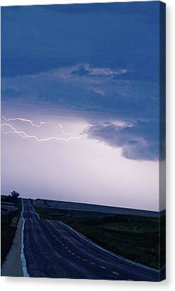 The Long Road Into The Storm Canvas Print by James BO  Insogna