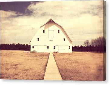 Canvas Print featuring the photograph The Long Walk by Julie Hamilton