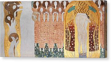 Mural Canvas Print - The Longing For Happiness by Gustav Klimt