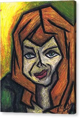 The Look Canvas Print by Kamil Swiatek