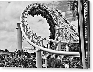 The Loop Black And White Canvas Print by Douglas Barnard