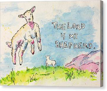 Canvas Print featuring the painting The Lord Is My Shepherd by Chris Rice