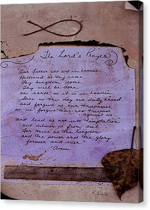 The Lord's Prayer Collage Canvas Print by Ruth Palmer