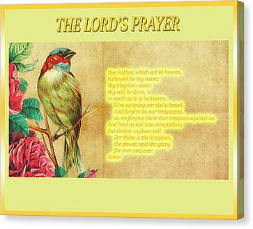 The Lord's Prayer Canvas Print by John Parker