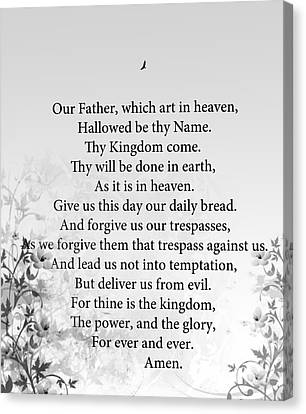 The Lord's Prayer Canvas Print by Trilby Cole