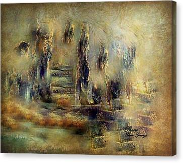 Canvas Print featuring the painting The Lost City By Sherriofpalmsprings by Sherri  Of Palm Springs