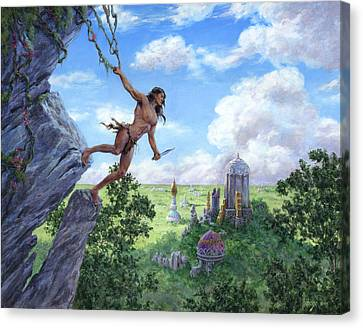 The Lost City Of Opar Canvas Print by Richard Hescox