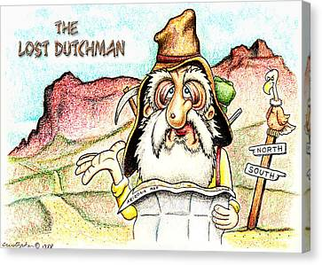 The Lost Dutchman Canvas Print by Cristophers Dream Artistry