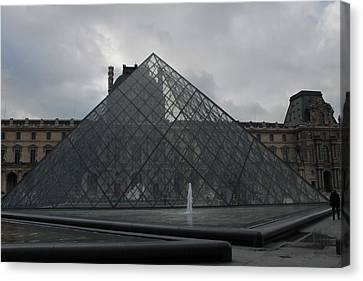 Canvas Print featuring the photograph The Louvre And I.m. Pei by Christopher Kirby
