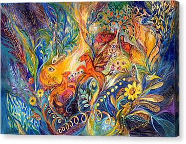 The Love Dance Canvas Print by Elena Kotliarker