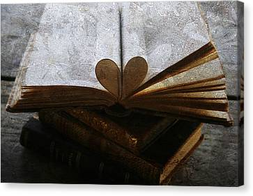 The Love Of A Book Canvas Print by Georgia Fowler