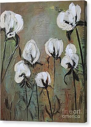 Cotton Farm Canvas Print - The Love Of Cotton by Emily Martinez