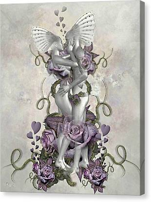 The Love Of The Two Souls Canvas Print by Ali Oppy