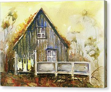 The Lovely Cabin Canvas Print by Kristina Vardazaryan