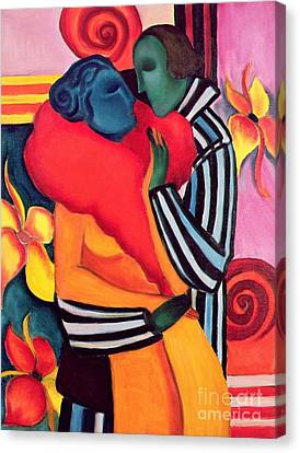 The Lovers Canvas Print by Sabina Nedelcheva Williams