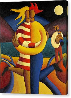 The Lovers Seranade Canvas Print by Alan Kenny
