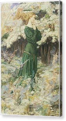 The Lover's World Canvas Print by Eleanor Fortescue-Brickdale