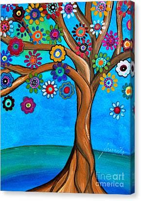The Loving Tree Of Life Canvas Print by Pristine Cartera Turkus