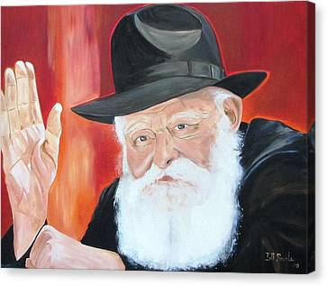 The Lubavitch Rebbe Canvas Print by Irit Bourla