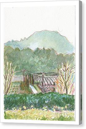 The Luberon Valley Canvas Print by Tilly Strauss