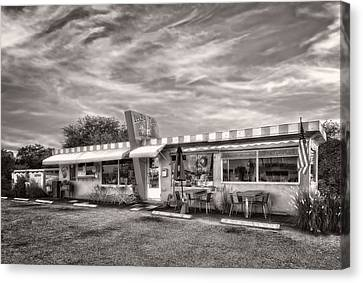 The Lucky Dog Diner At Sunset - 2 Canvas Print