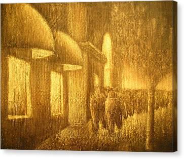 The Lumber Exchange Canvas Print by Jaylynn Johnson